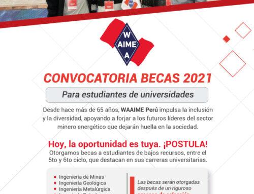 Convocatoria de becas WAAIME 2021 – II